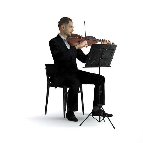 3D Musician 038 | 3d model | 3D scan