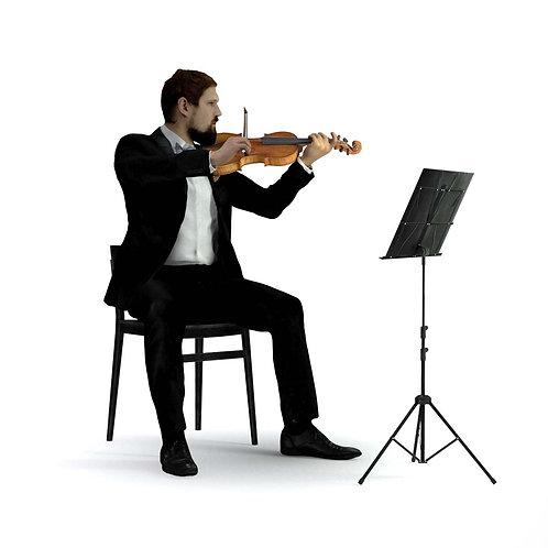 3D Musician 031 | 3d model | 3D scan