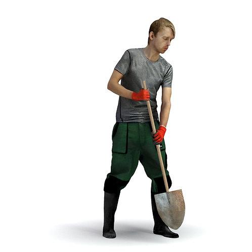 3D Gardener 009 | 3d model | 3d scan | bonboniere3d