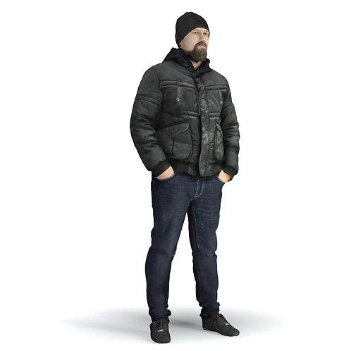 3D Man Winter 027   3d model   3d scan   bonboniere3d