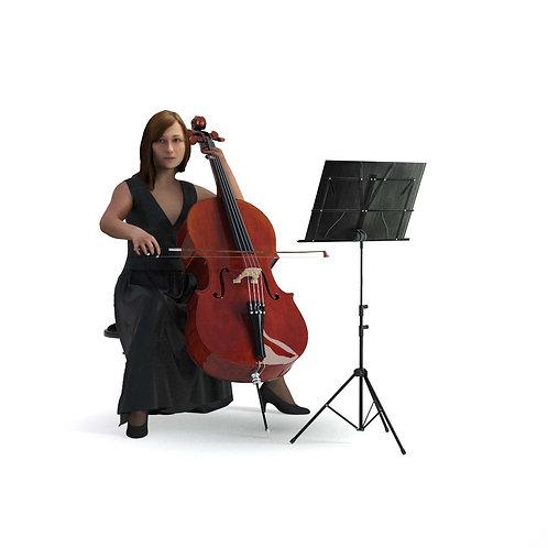 3D Musician 011   3d model   3D scan