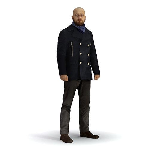 3D Man Winter 005 | 3d model | 3d scan | bonboniere3d