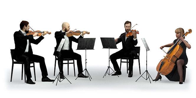 3D String Quartet 001 | 3d model | 3d scan