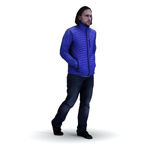 3D Man Winter 033 | 3d model | 3d scan | bonboniere3d