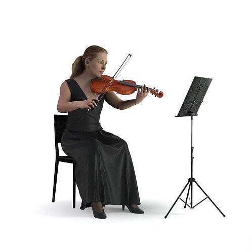 3D Musician 016 | 3d model | 3D scan