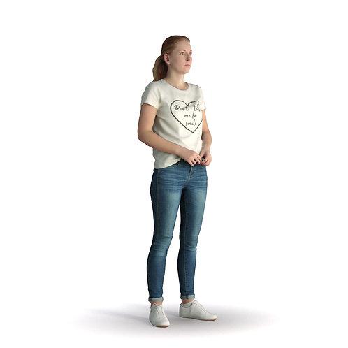 3D Woman Summer 013 | 3d model | 3d scan | bonboniere3d