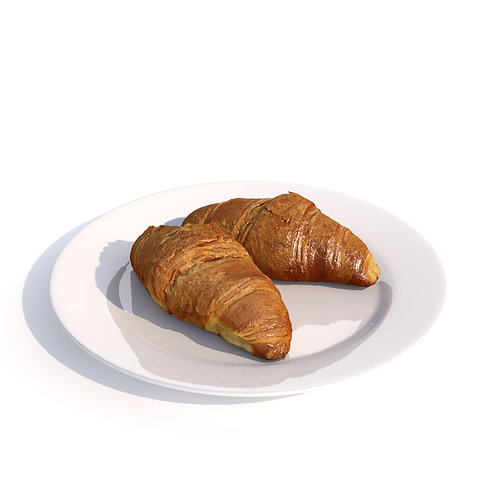 3Dscan 3Dmodel 3D scan model realistic croissant food fruit vegetable kitchen toast bun interior  vray 3dsmax fbx obj