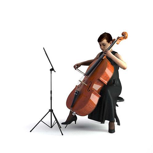 3D Musician 010 | 3d model | 3D scan