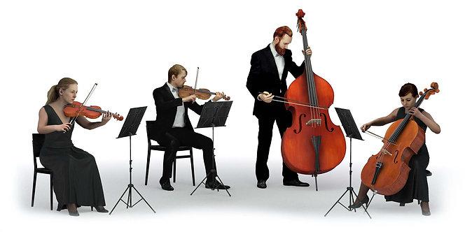 3D String Quartet 002   3d model   3d scan