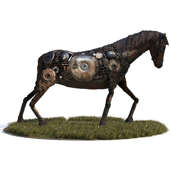 3Dscan 3Dpeople 3Dmodel realistic sculpture horse industrial statue abstract art modern human man vray max fbx obj jpg
