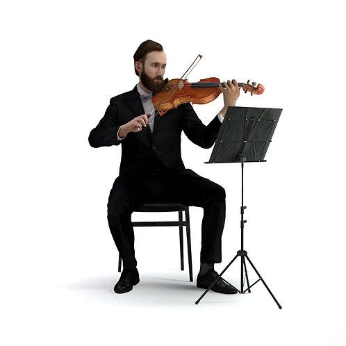 3D Musician 030   3d model   3D scan