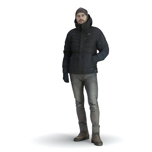 3Dscan 3Dmodel realistic winter summer casual office man woman archviz architectural rendering humanvraymax fbx obj