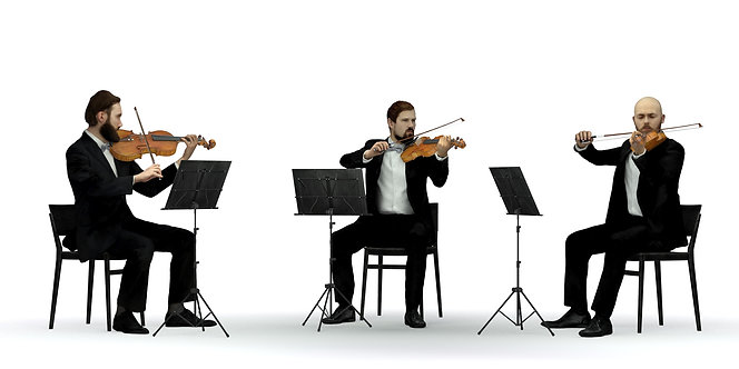 3D Violin Trio | 3d model | 3D scan