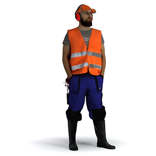 3D Worker 018   3d model   3d scan   bonboniere3d