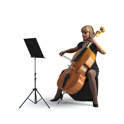 3D Musician 005 | 3d model | 3D scan
