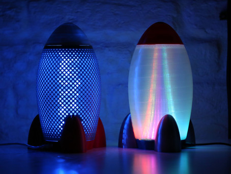 How to make 3D printed RGB LED Rocket Lamp for kids