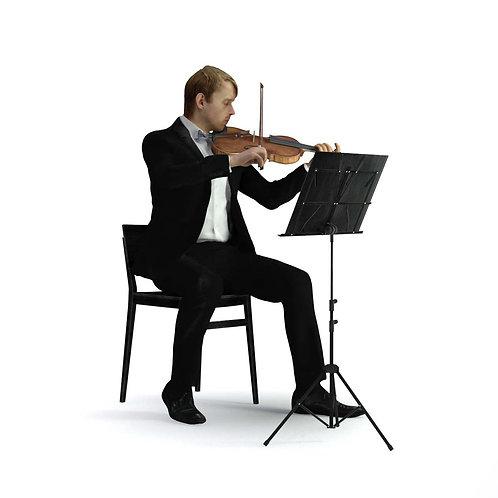 3D Musician 040 | 3d model | 3D scan