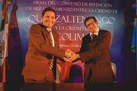 Firma de convenio con Quetzaltenango, Guatemala en 2019.