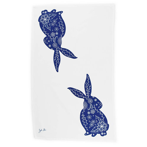 Rabbit Tea Towel