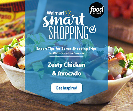 Food Network & Walmart banner ad