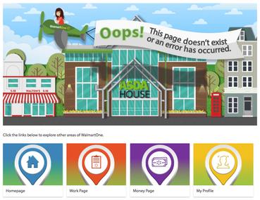 ASDA WalmartOne 404 Error Page