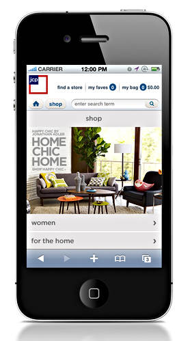 Jcpenney App Homepage Design