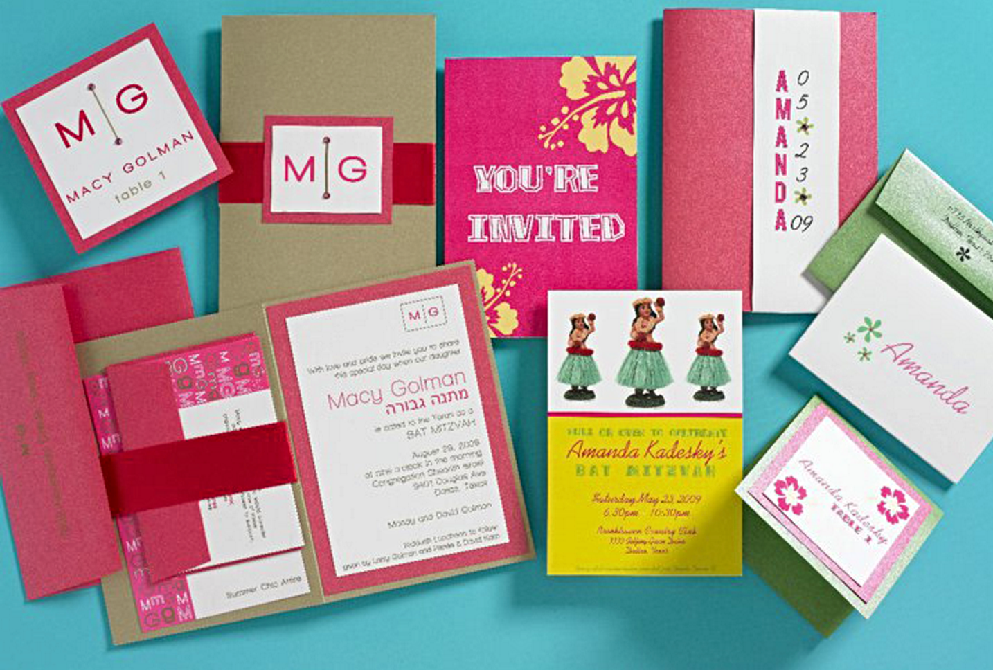 Bat Mitzvah Invitation Design