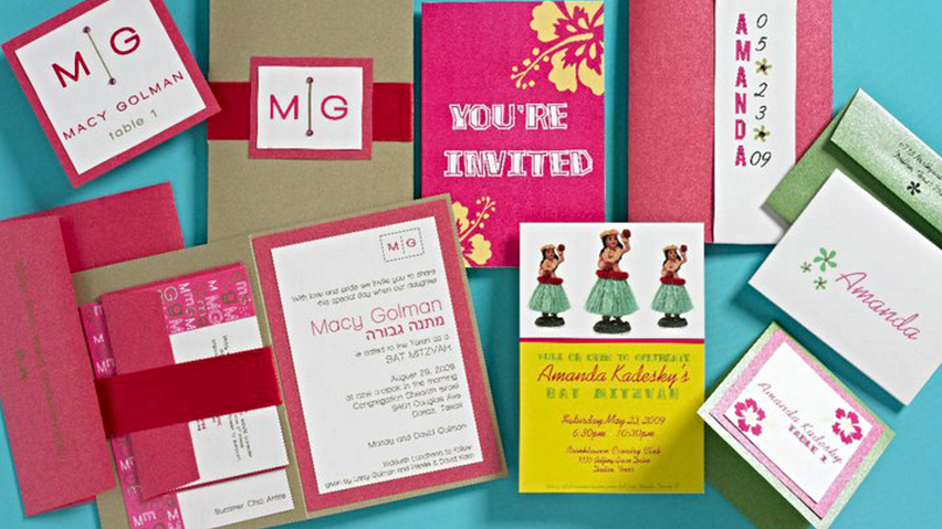 Bat Mitzvah Invitation Design