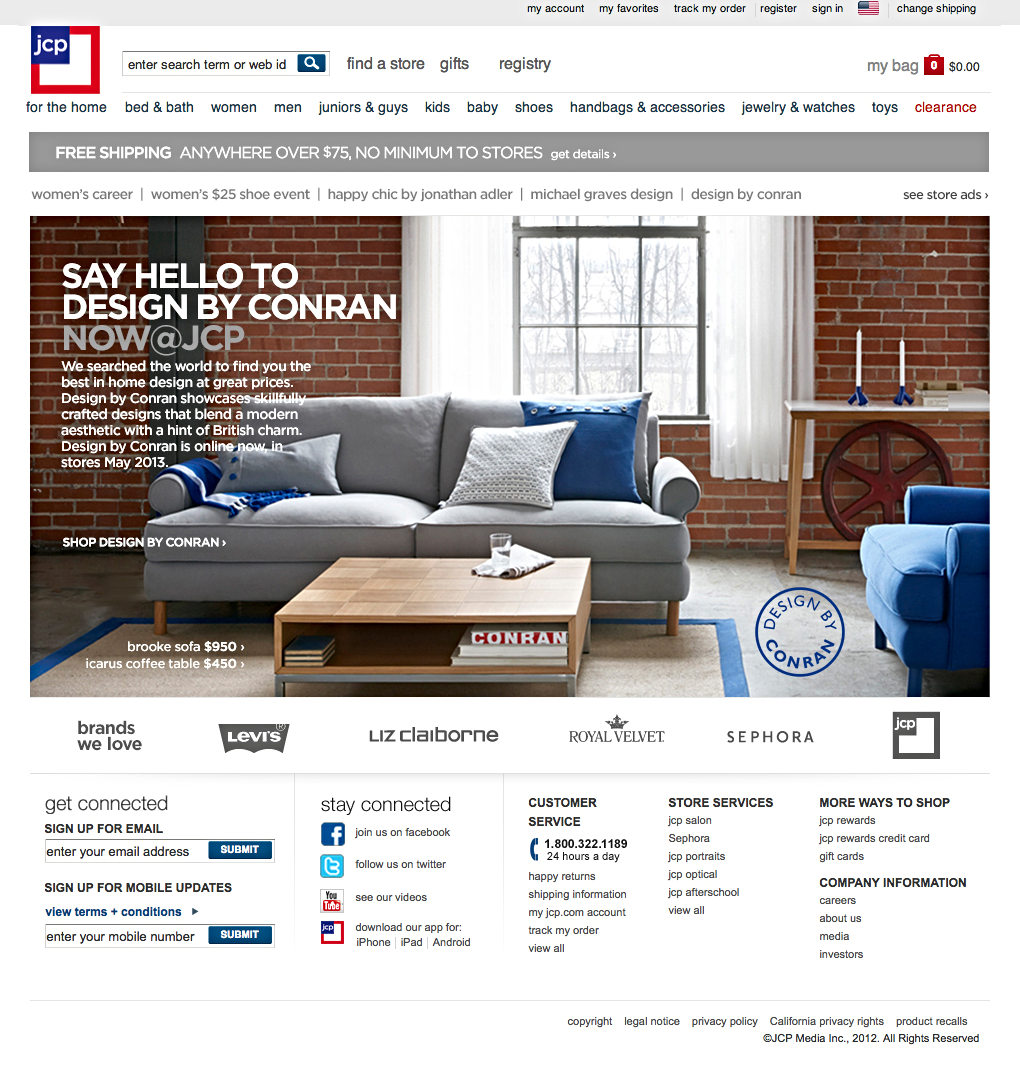 Jcpenney Homepage Design