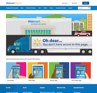 WalmartOne.com 403 Error Page
