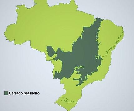 mapa do cerrado