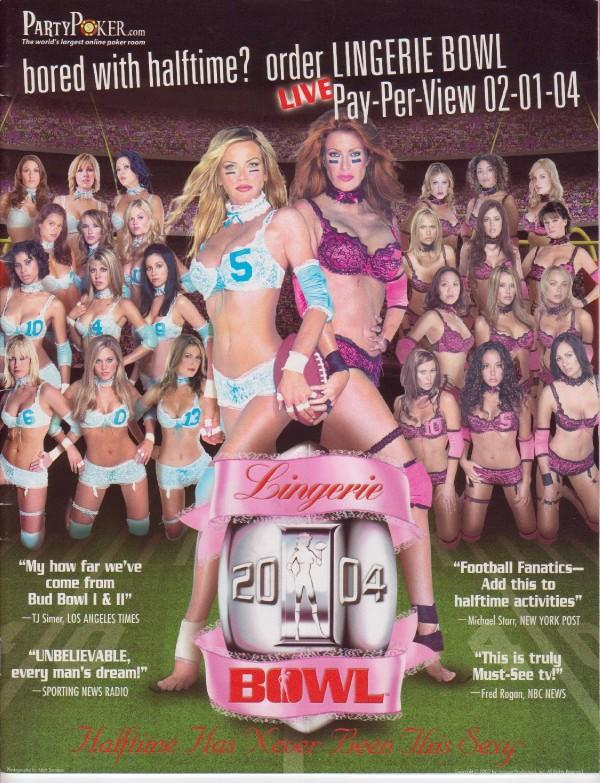 Lingerie Bowl Program Cover