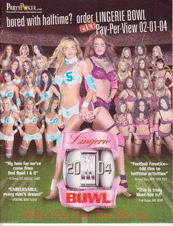 Lingerie Bowl Program Cover