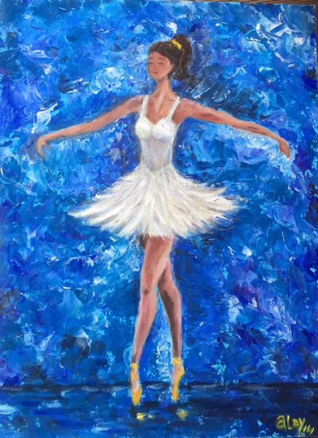 "Dancer   12""x16"" (Sold)"