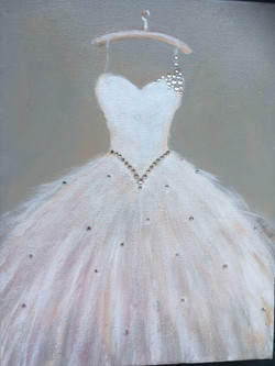 """Meiske's Dress (Sold) 11""""x14"""""""