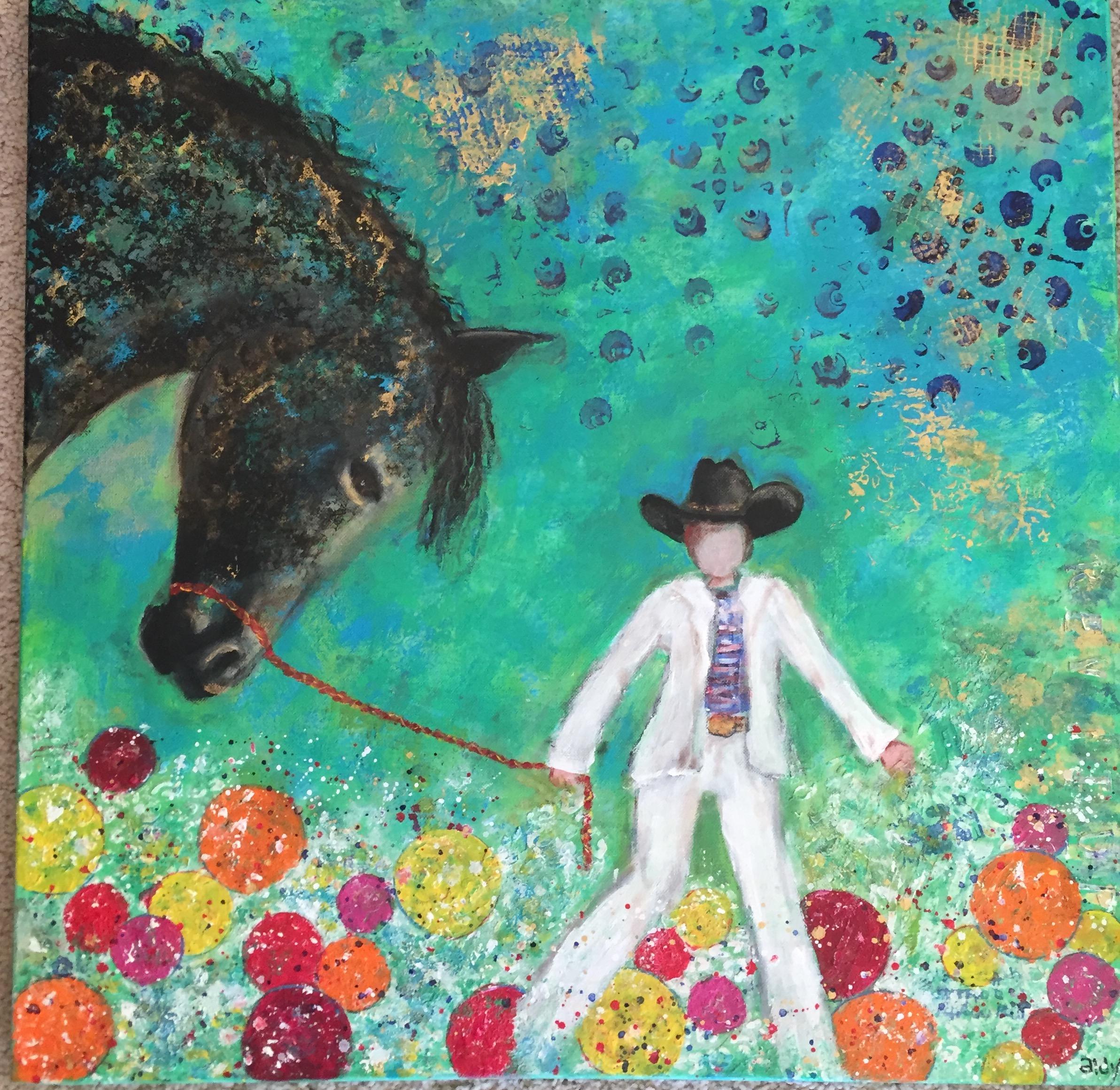"Hip Cowboy 24"" x 24"""