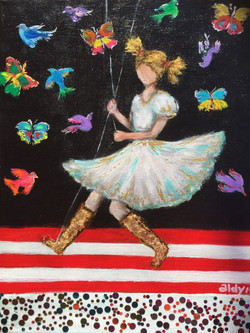 """Swing Time 11""""x14"""" (Sold)"""