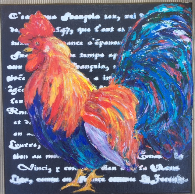 "Rooster (Sold)  12""x12"""