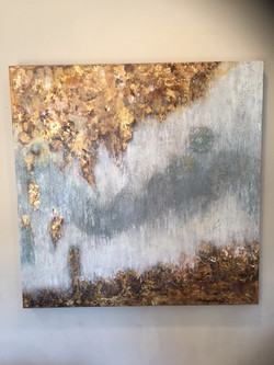 """Gold Cave 36""""x 36"""" (Sold)"""