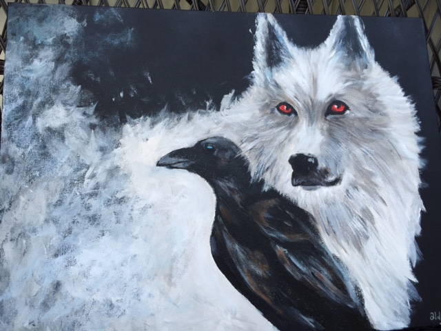 "Game of Thrones (Sold)  20""x18"""