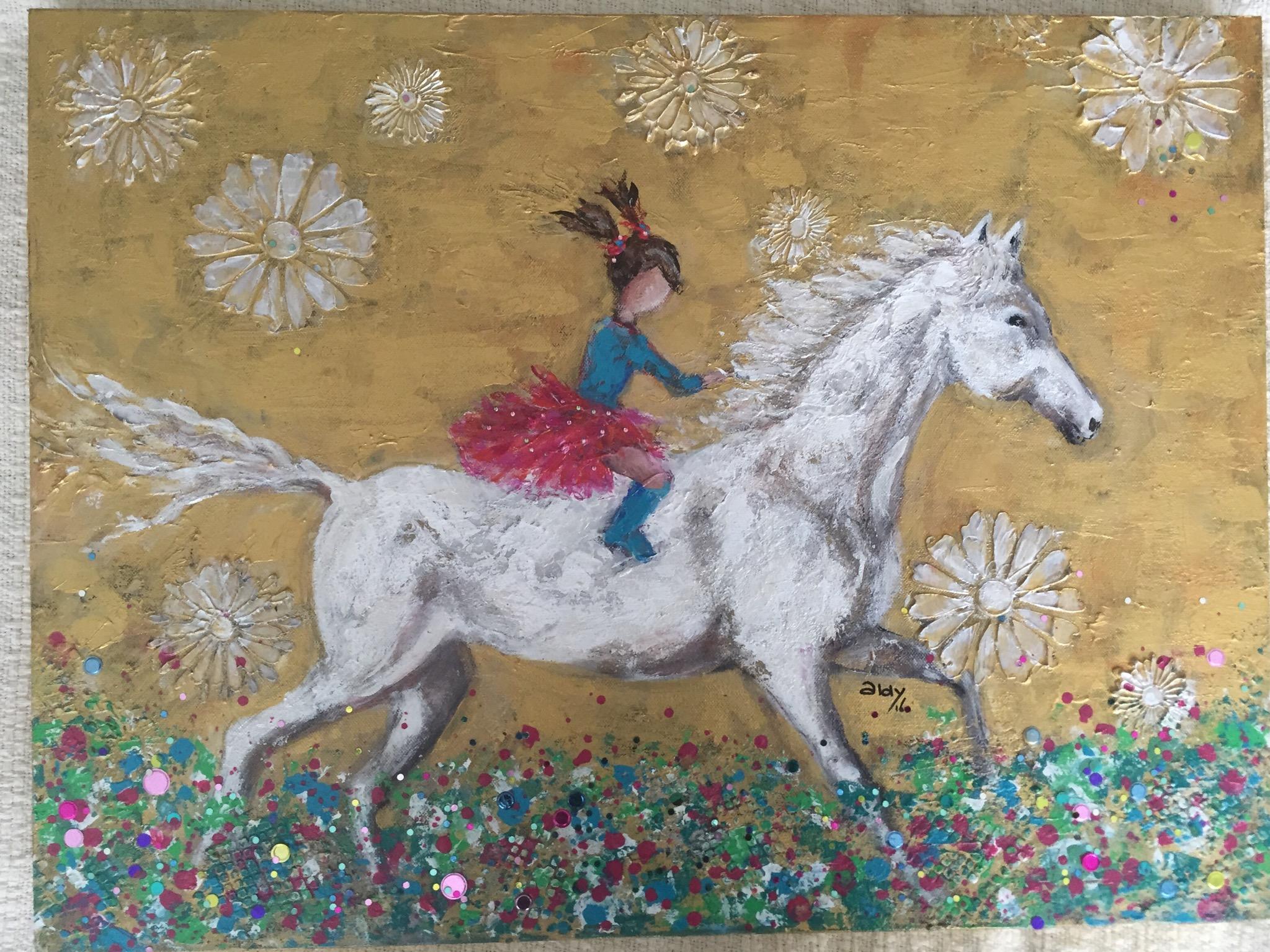 """Flower Ride 18"""" x 24"""" (Sold)"""