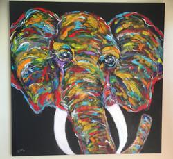 """Elephant  30""""x30"""""""