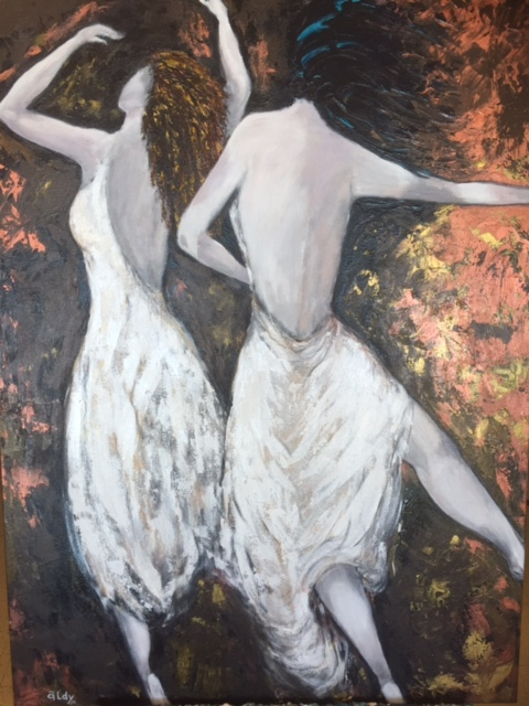 "Dancing in the night 40"" x 30"""