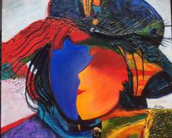 """Rainbow Face 24""""x20"""""""
