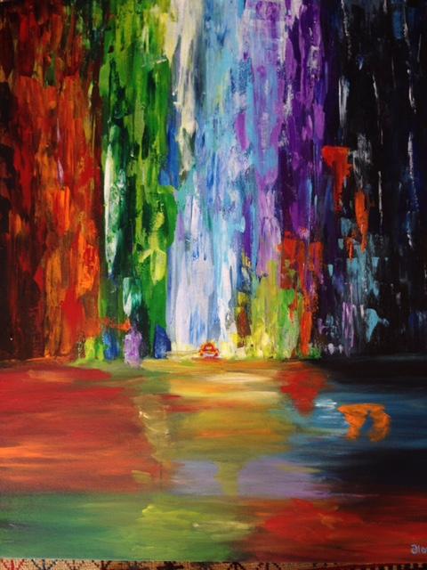 "Rainbow World (Sold) 30""x 24"""