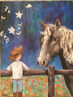 "Midnight Cowboy 16"" x 20"""