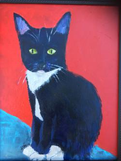 """Cat (Sold) 11""""x14"""""""