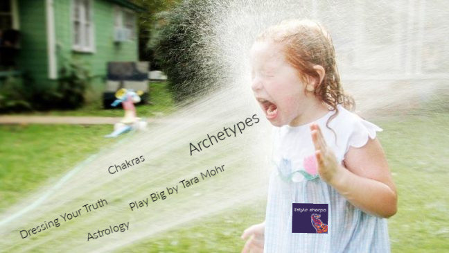 Girl drinking from a firehose spray