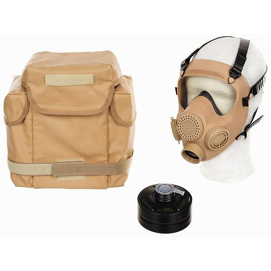 """Polsk Skyddsmask / Gasmask """"MP5"""" med Filter & Väska, khaki färg"""