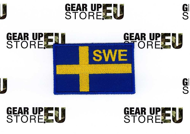 Sveriges Flagga, Broderat tygmärke / Patch